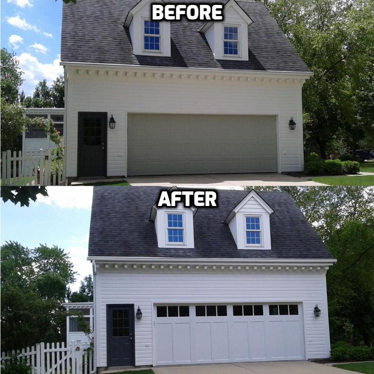 Clopay Coachman Garage Door Before and After - Downers Grove