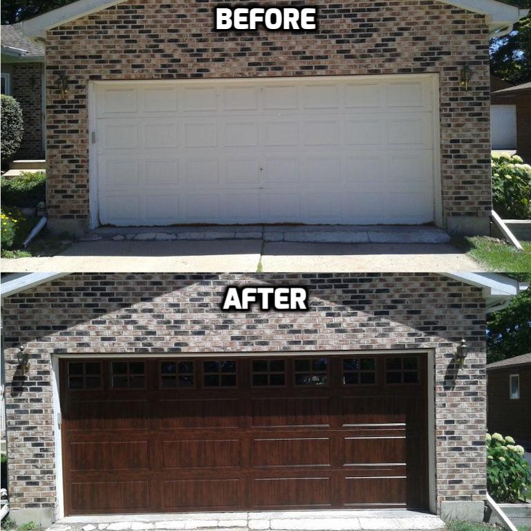 Garage Door Before And After Photos A All Style