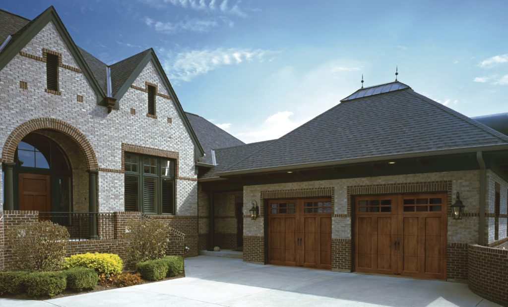 wood grains garage doors
