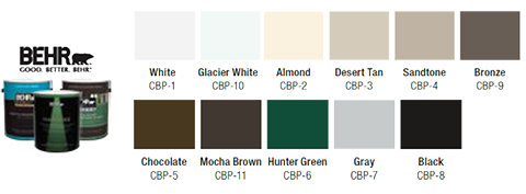 Custom match color for garage doors with color blast and for Lrv paint color chart