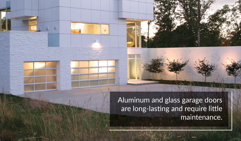 Aluminum and Glass Garage Doors Are Long Lasting and Low Maintenance