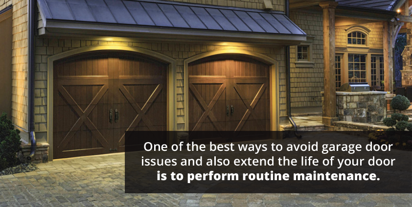 One of the best ways to avoid garage door issues and extend the life of your door is to perform routine maintenance.