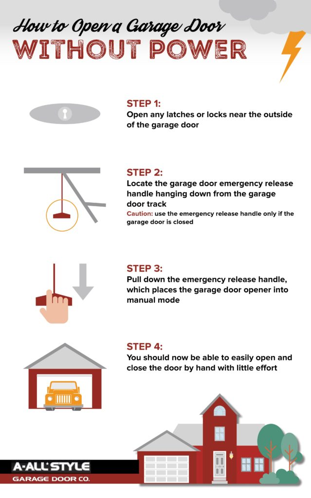 power outage here s how to open your garage door a all