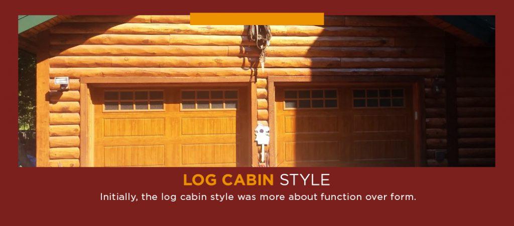 log cabin garage door style