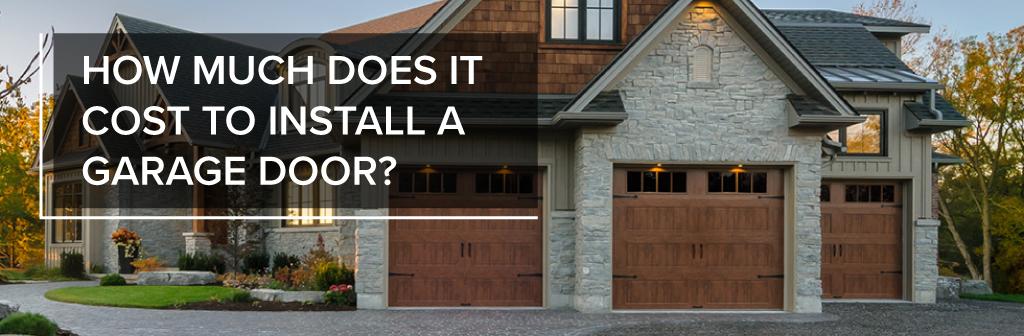 Garage Door Cost Installation A All Style Garage Door