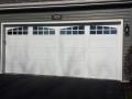 custom white double garage door