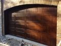 custom wood double garage door arched top
