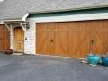 double barn style no windows wooden garage door