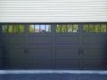 black double door four windows