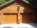 log cabin custom garage doors
